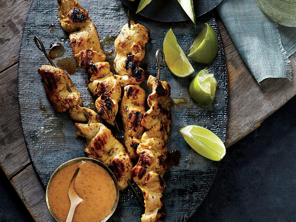 Almond Butter Chicken Satay