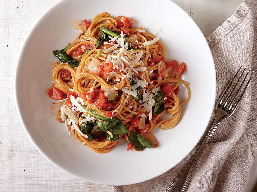 One-Pot Pasta with Spinach and Tomatoes Cooking Light Diet