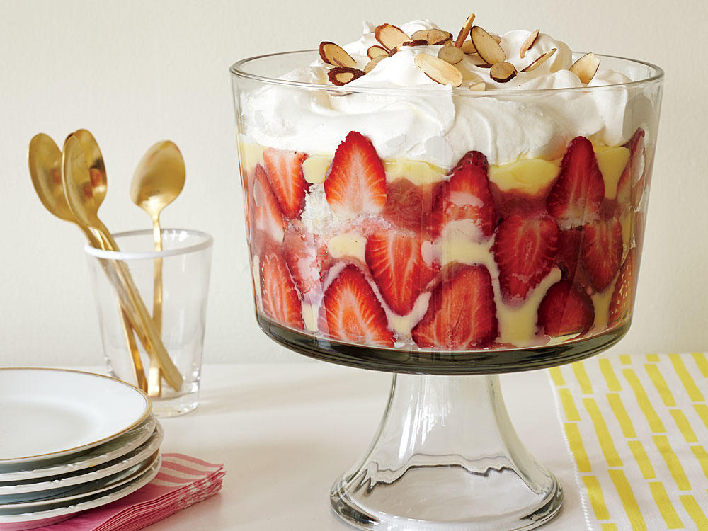 Strawberry Rhubarb Trifle Recipe