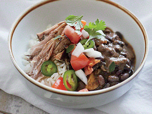 Florida Recipe: Cuban Pork Shoulder with Beans and Rice