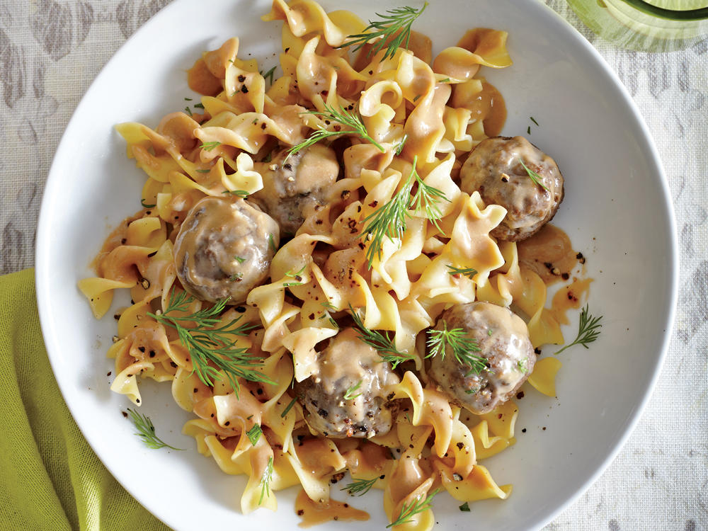 Swedish Meatballs with Red Currant Pan Sauce