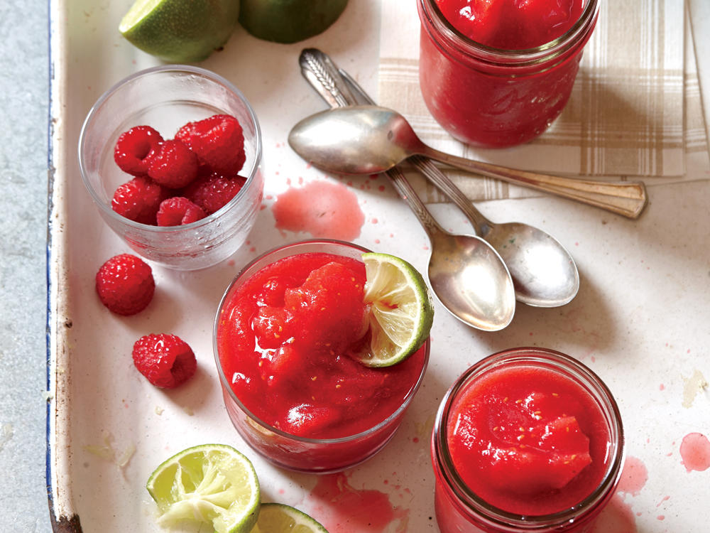 Raspberry-Lime Rickey Slushies