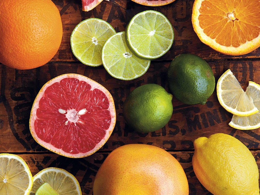 Citrus fruits are at their peak.