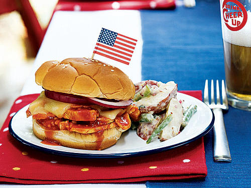 Honey-Chipotle Barbecue Chicken Sandwiches