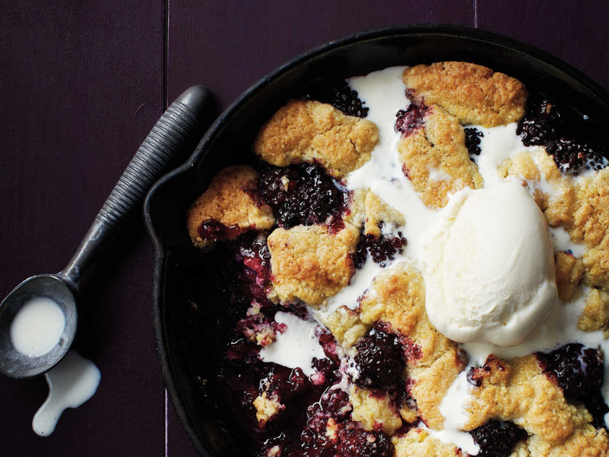 Blackberry-Almond Cobbler