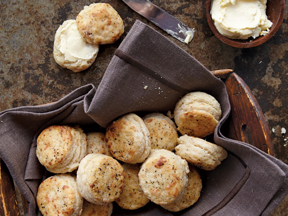 Parmesan-Pepper Biscuits