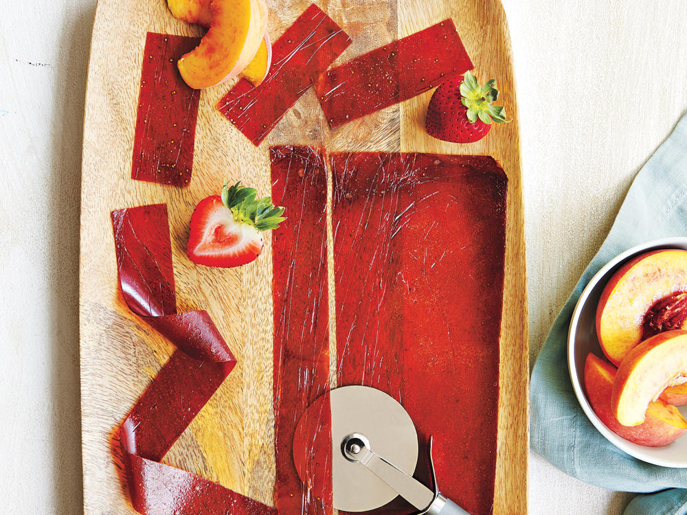 Peach-Strawberry Fruit Leather
