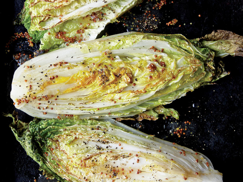 Sweet and Sour Roasted Napa Cabbage Wedges