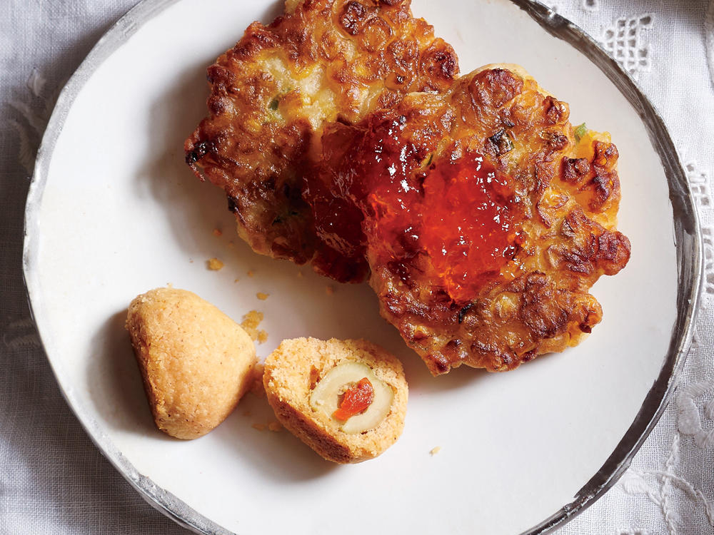 Corn Fritters with Jalapeño Jelly