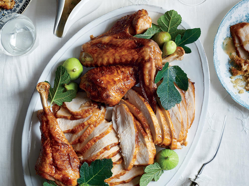 Brown Sugar-Cured Turkey with Apple-Bourbon Gravy