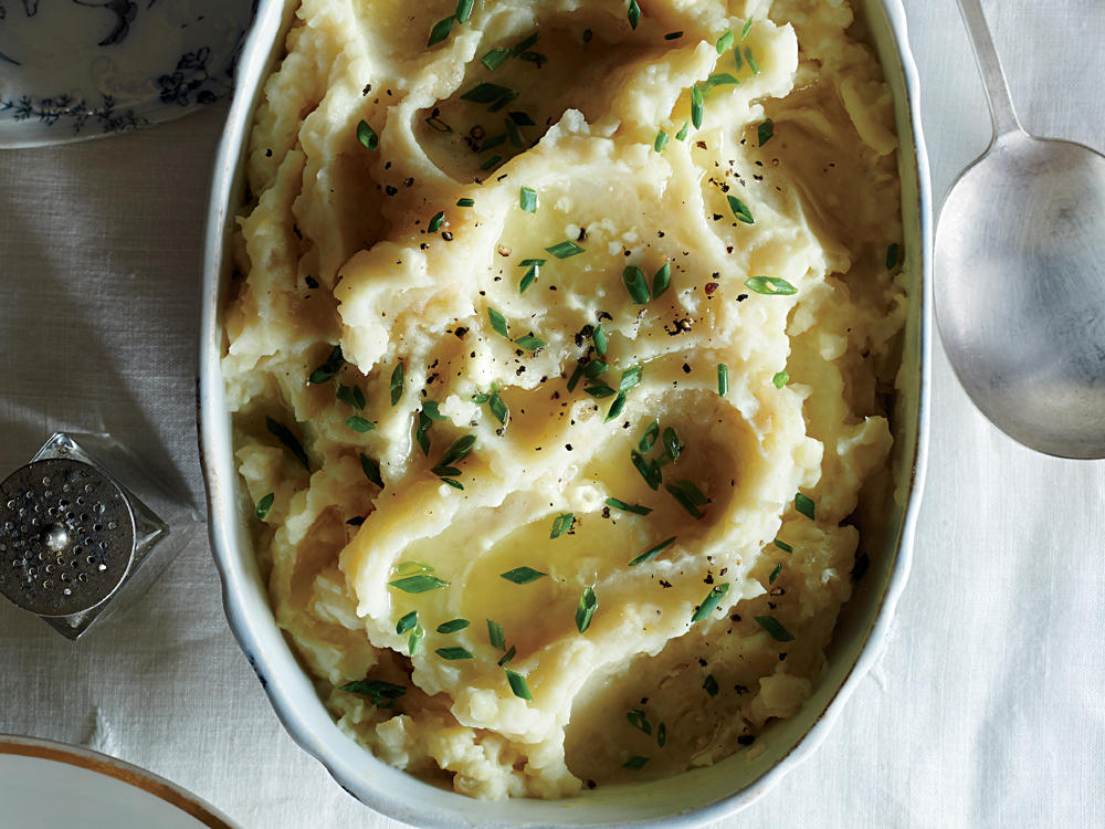 Mom's Smashed Mashed Potatoes