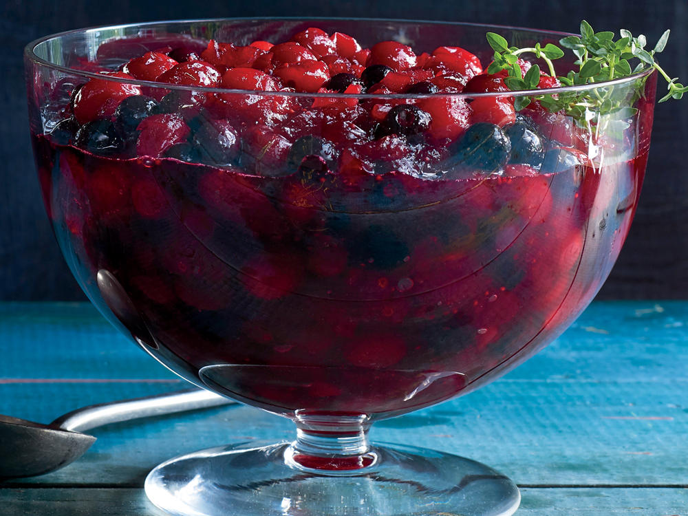 Cran-Blueberry Sauce with Candied Ginger