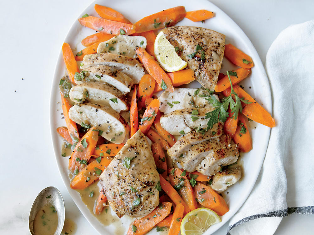 Chicken and Carrots with Lemon Butter Sauce
