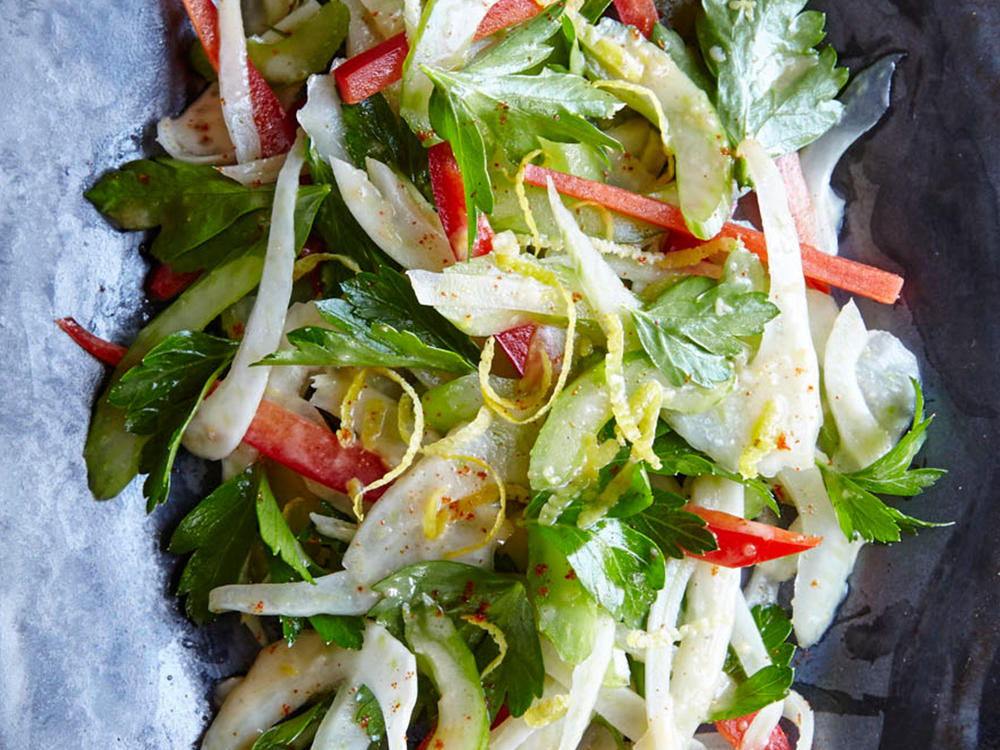 Shaved Celery and Parsley Salad