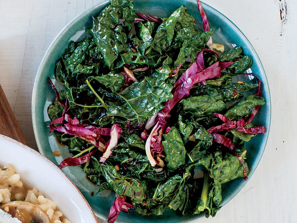 Balsamic Kale and Radicchio Sauté