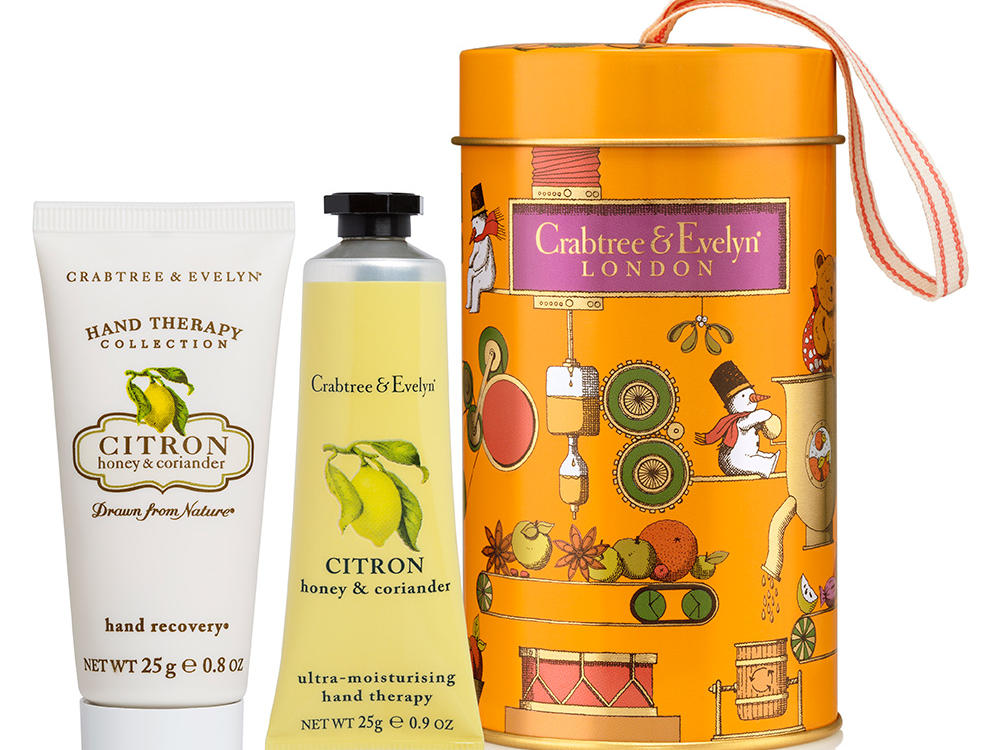 Crabtree & Evelyn Citron, Honey, and Coriander Hand Care Ornament Tins