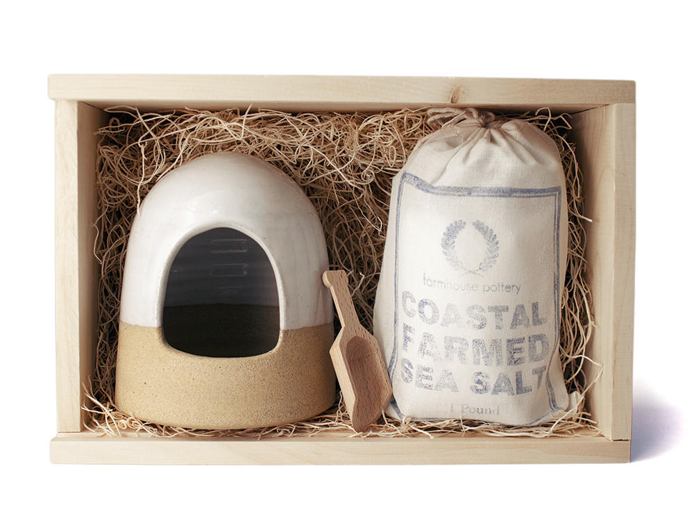 Farmhouse Pottery Salt & Cellar Boxed Set