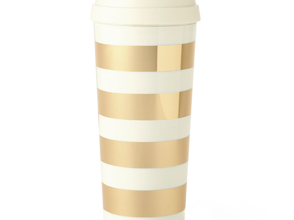 Kate Spade New York Gold Striped Thermal Mug
