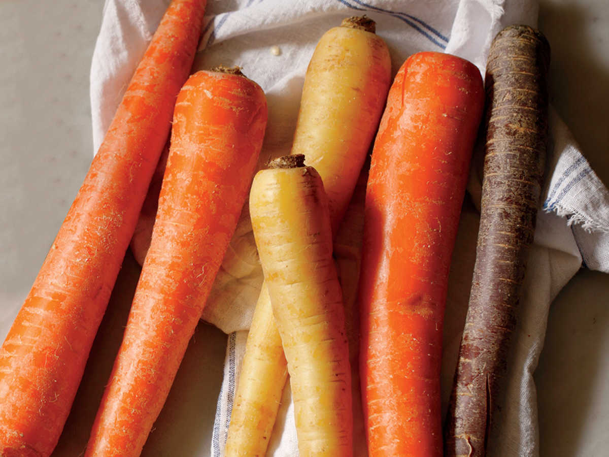 2. Scrub carrots, and dry well; peel, if desired.