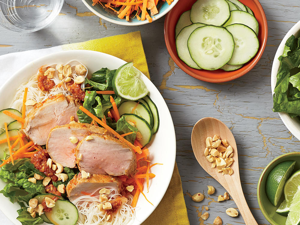 Vietnamese Barbecue Pork and Noodle Salad