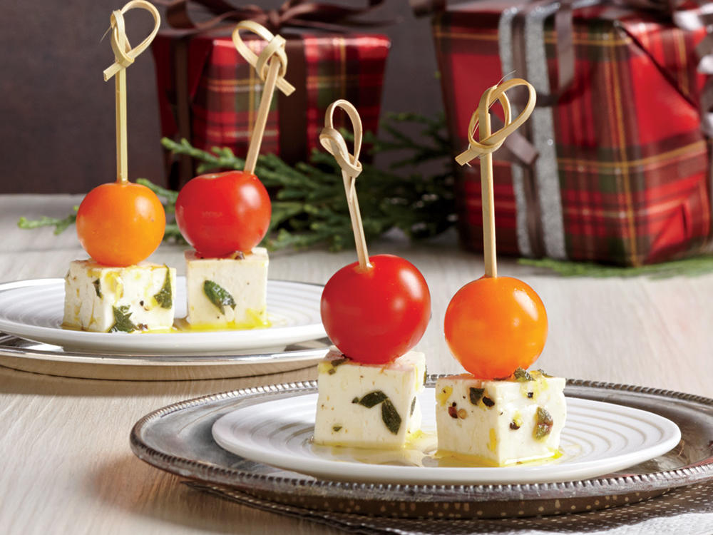 Marinated Feta Skewers