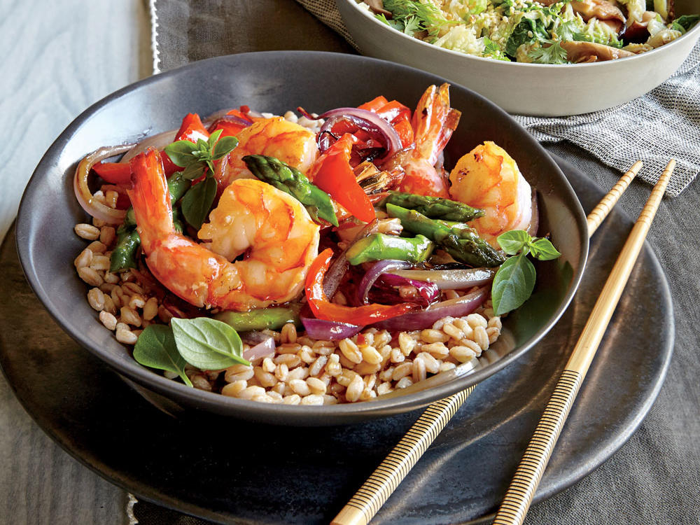 Shrimp and Asparagus Stir-Fry