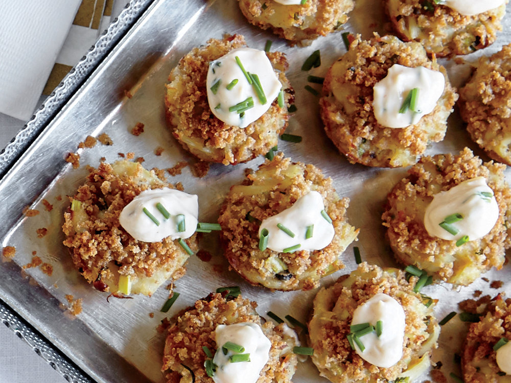 Mini Crab Cakes with Pickled Celery