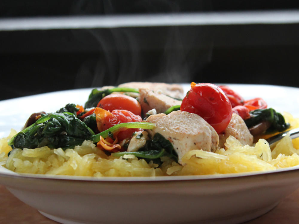 1512 Spaghetti Squash with Chicken and Veggies