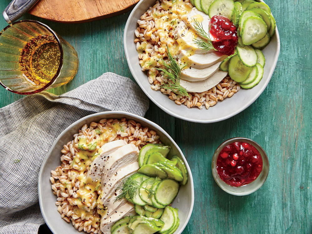 Tangy Chicken-Farro Bowl