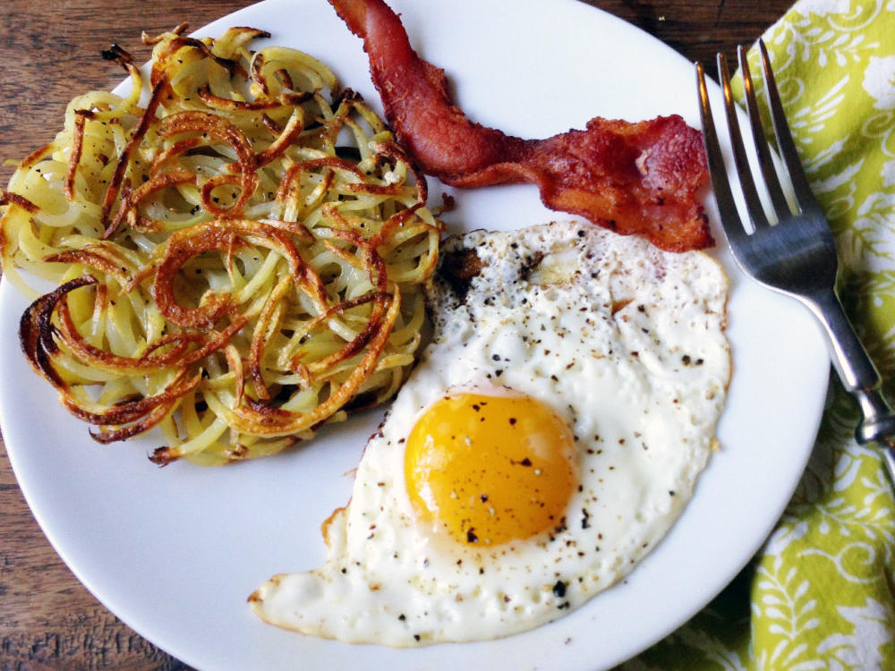 Spiralizer Hash Browns