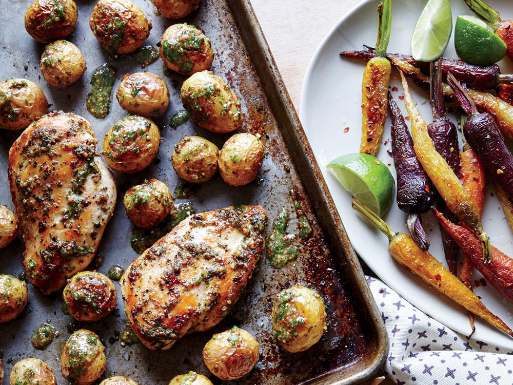 1603 Paleo Sheet Pan Chicken with Roasted Baby Potatoes