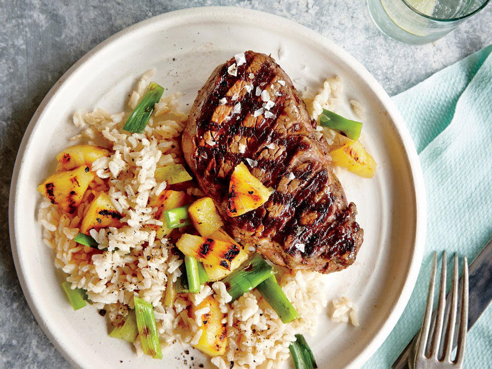 Grilled Steak with Pineapple Rice