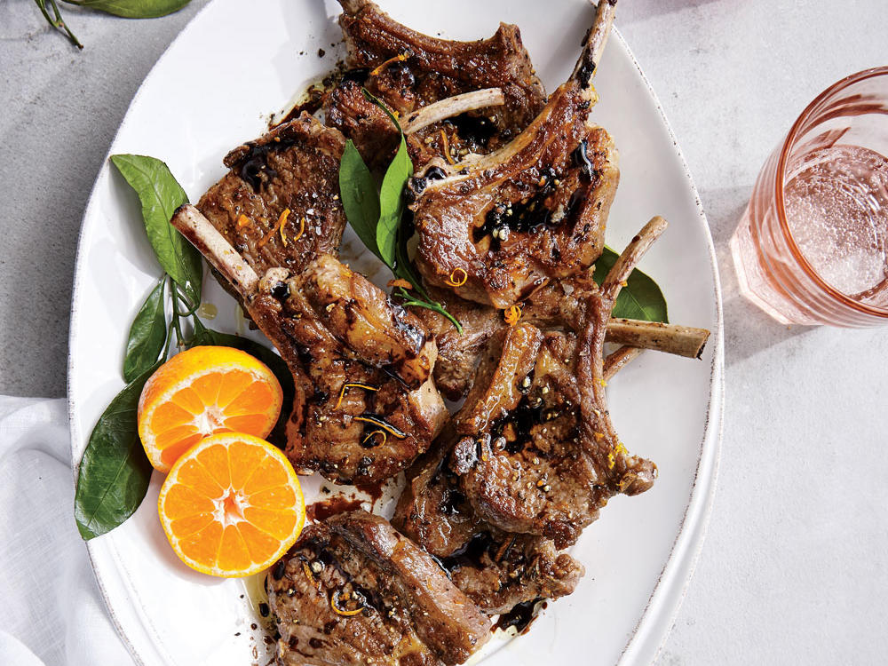 Orange-Balsamic Lamb Chops