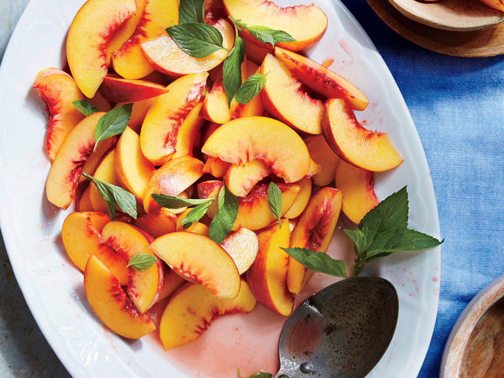 Chilled Peaches in Orange Flower Water