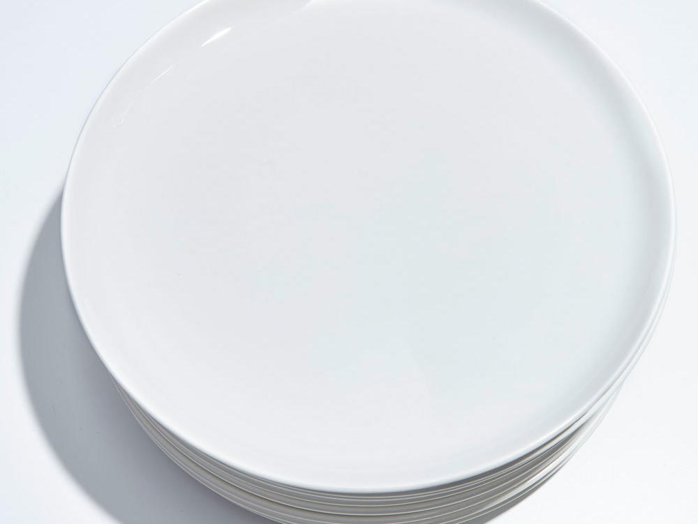 1605 CB2 Contact White Dinner Plate