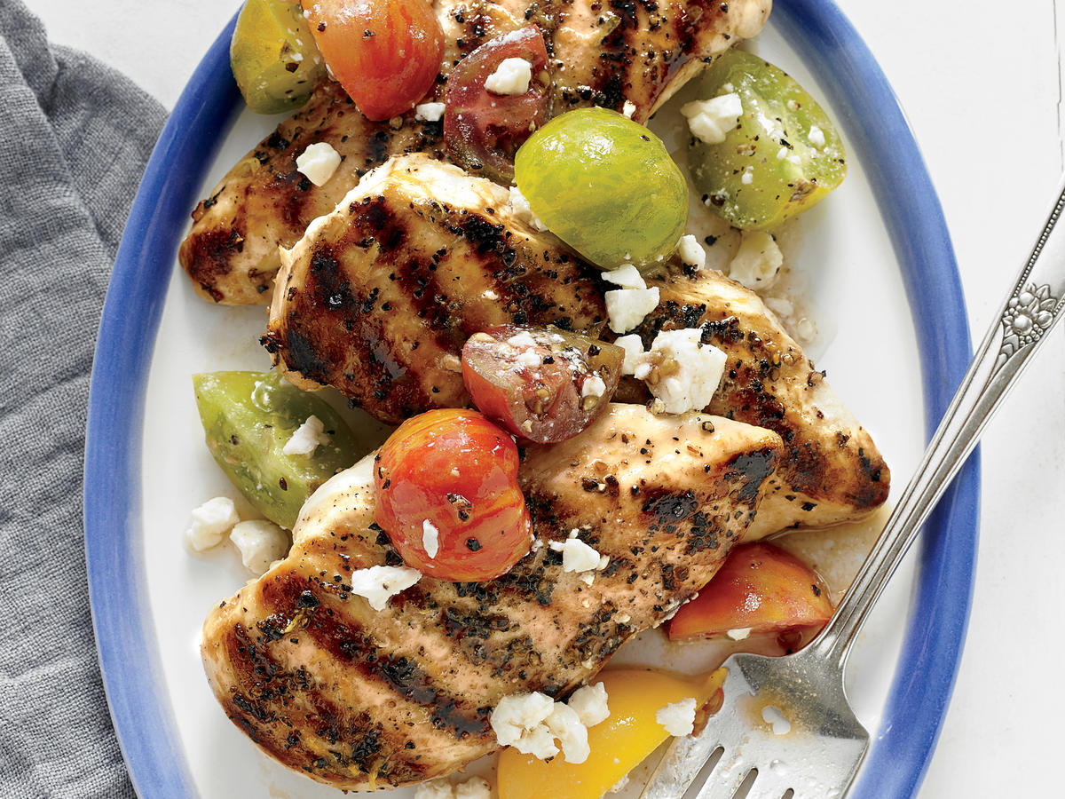 Grilled Lemon Chicken with Tomato Salad