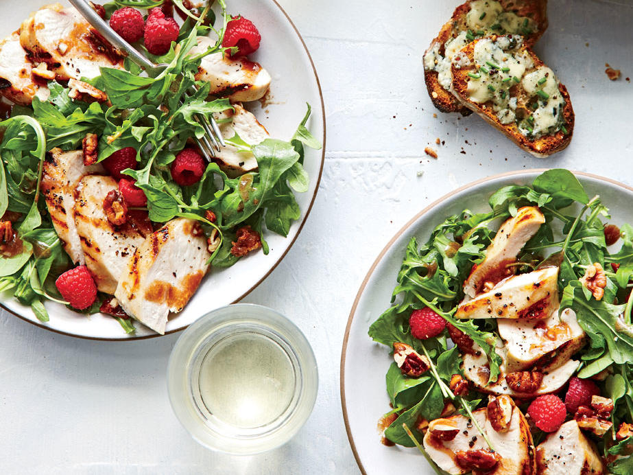 Grilled Balsamic Chicken Salad With Spiced Pecans