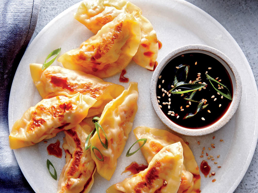 Shrimp, Cabbage, and Carrot Potstickers