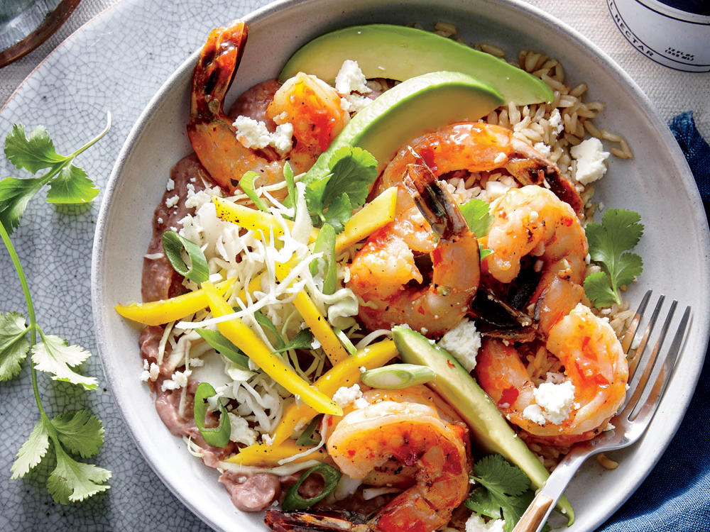 Shrimp and Burrito Bowl