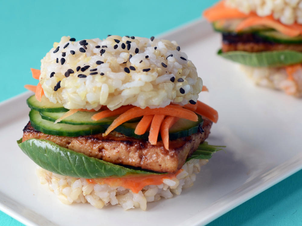 Brown Rice Sushi Slider with Teriyaki Tofu
