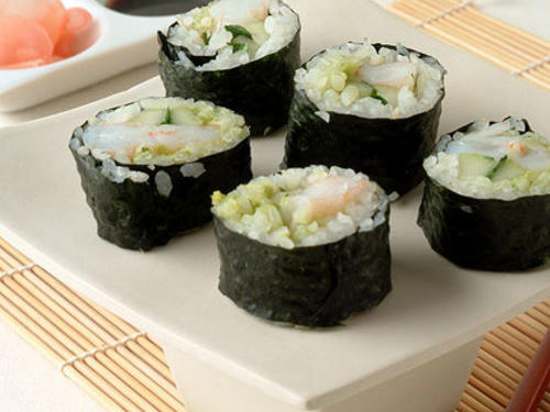 Avocado Shrimp Sushi