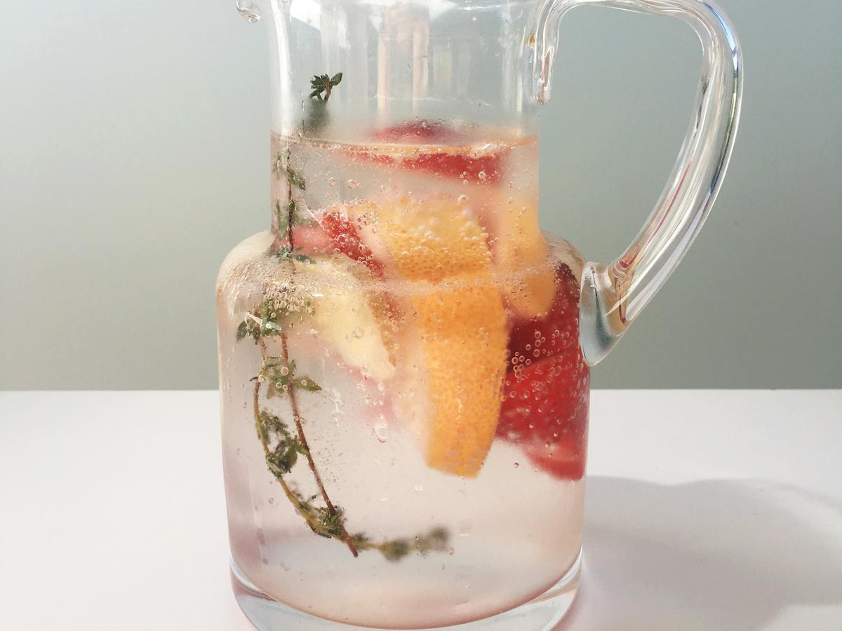 Ginger + Grapefruit + Strawberry + Thyme