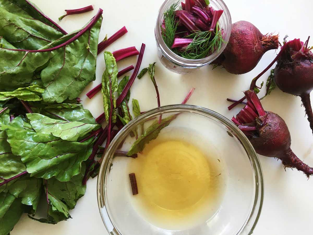 beet stem pickling