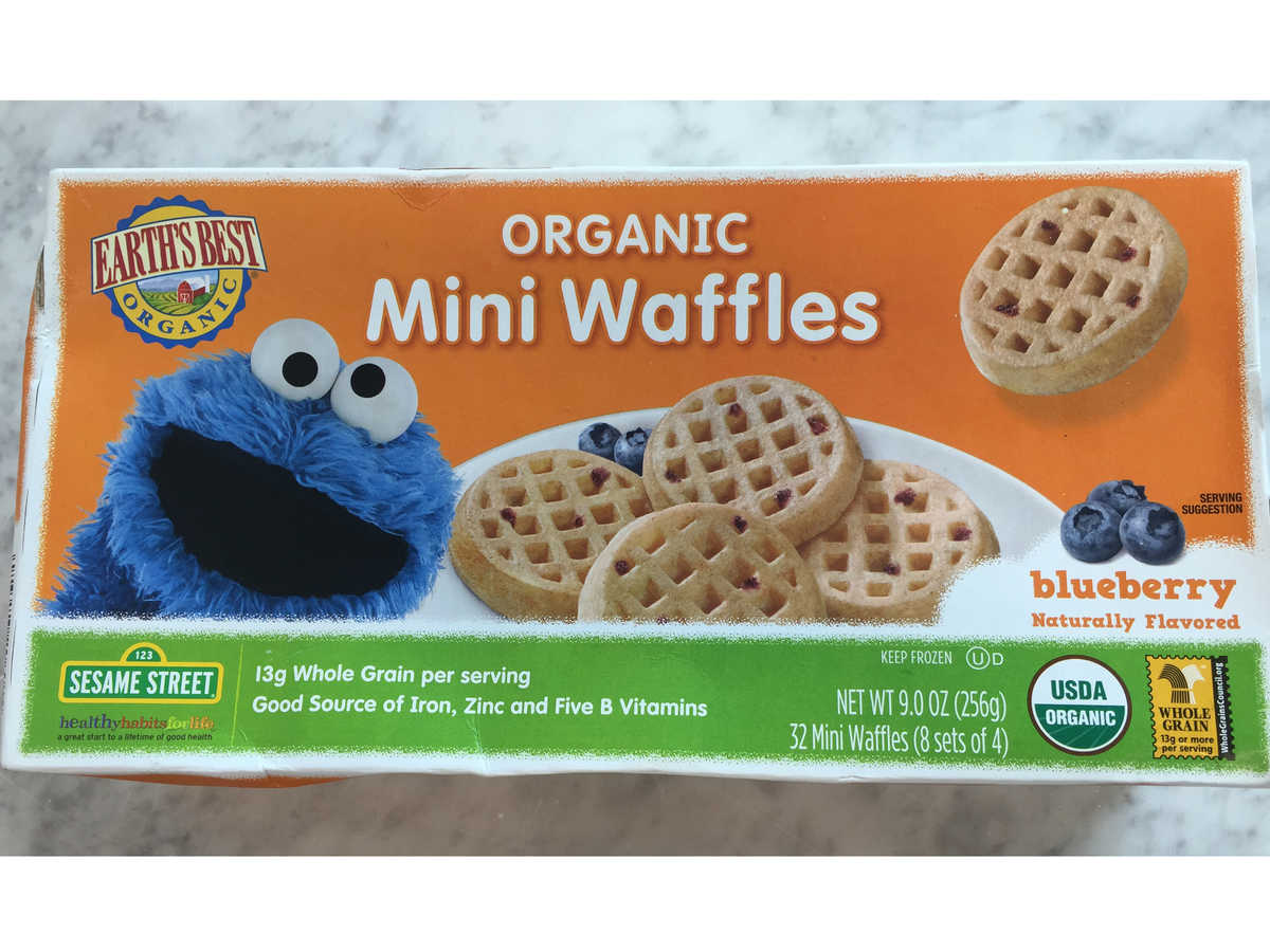 Earth's Best Mini Blueberry Waffles
