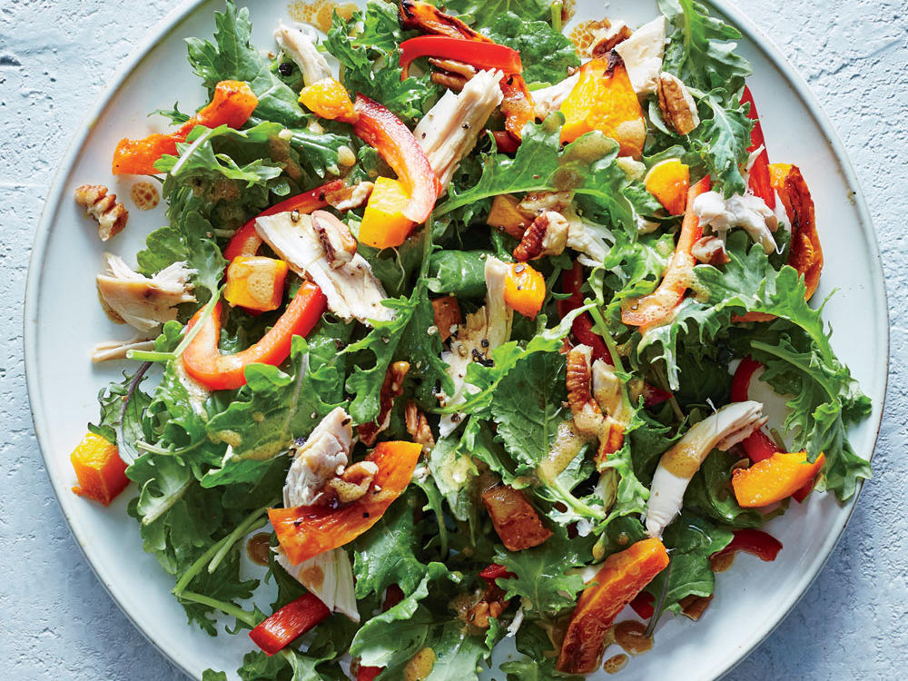 Baby Kale, Butternut, and Chicken Salad