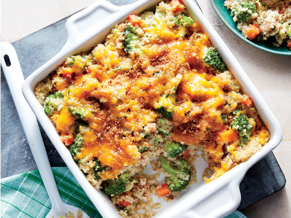 1701 Leftover Cheesy Sausage, Broccoli, and Quinoa Casserole 31-Day Meal Plan