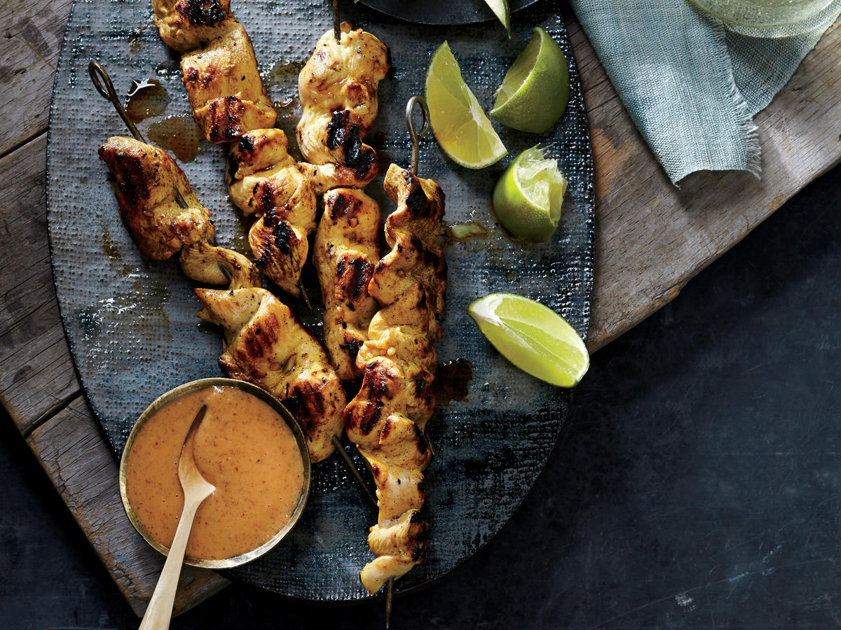 almond butter chicken satay recipe