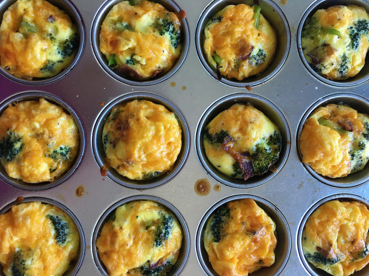 Broccoli and Bacon Muffin Tin Frittatas