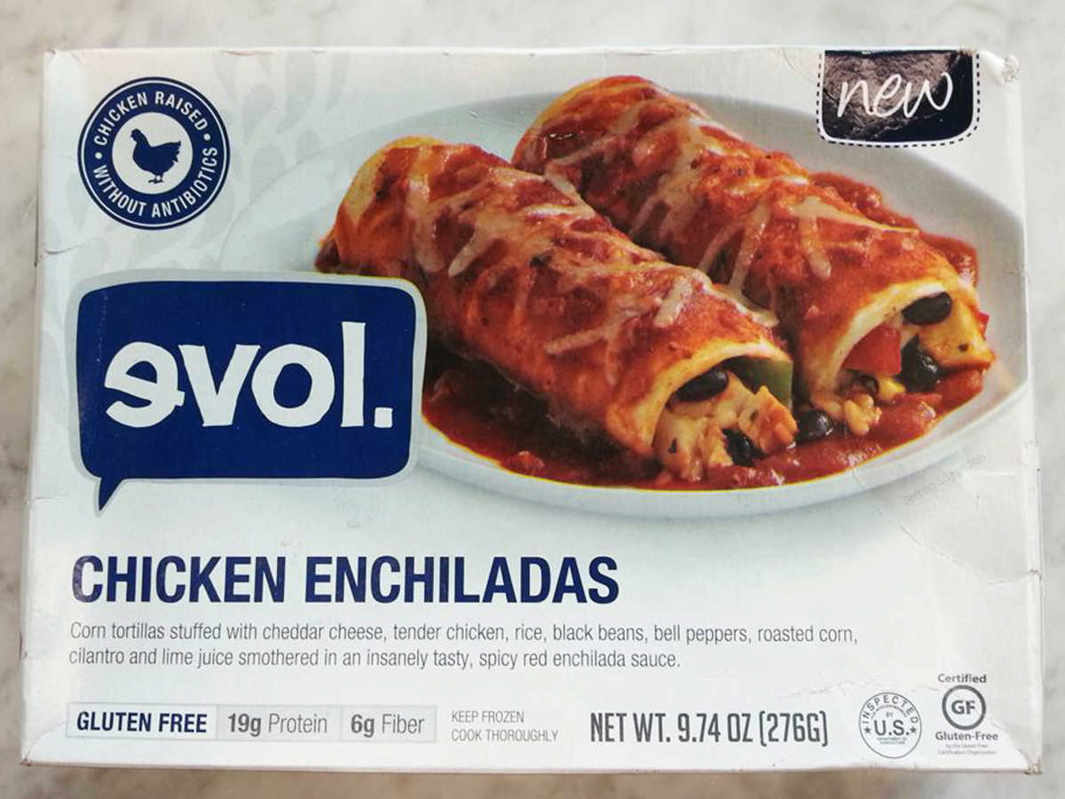 Frozen Food Evol Chicken Enchiladas