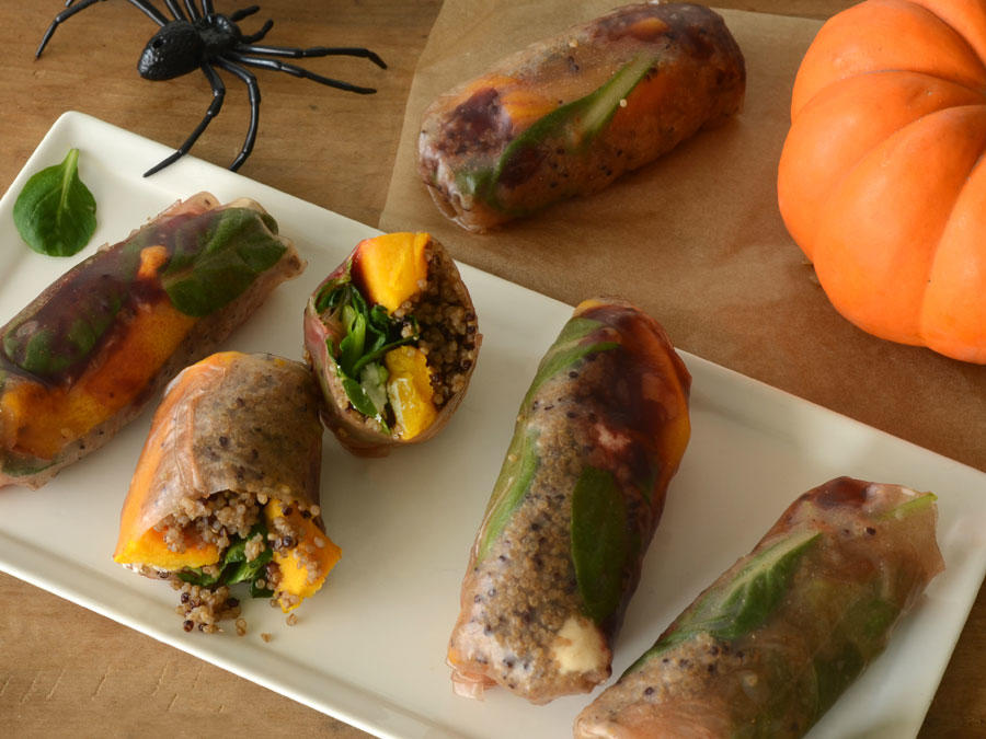 Pumpkin and Quinoa Autumn Rolls